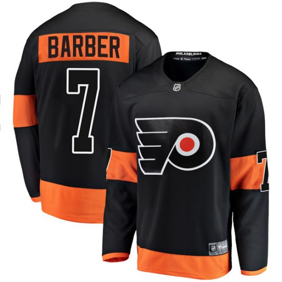 Bill Barber Philadelphia Flyers Breakaway Alternate Fanatics Branded Jersey - Black