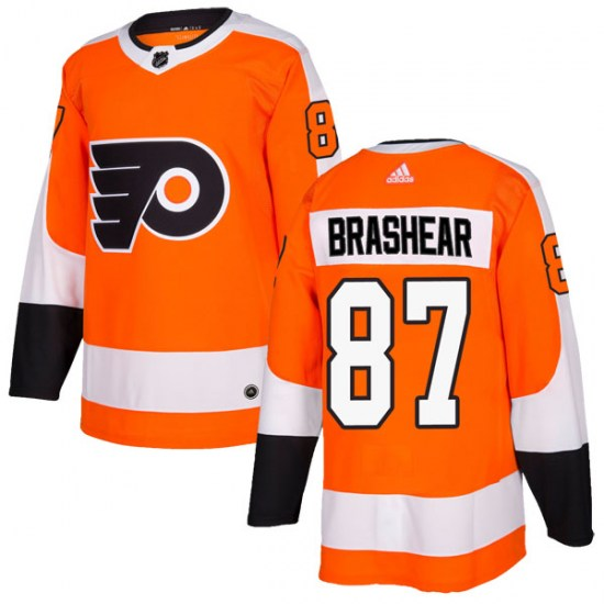 Donald Brashear Philadelphia Flyers Authentic Home Adidas Jersey - Orange
