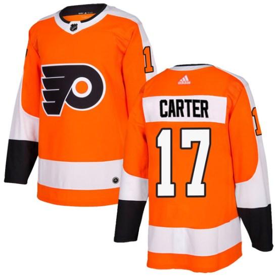 Jeff Carter Philadelphia Flyers Authentic Home Adidas Jersey - Orange