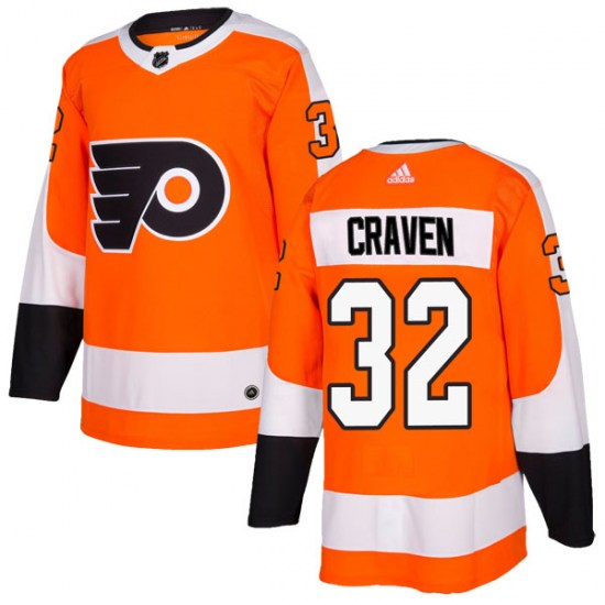 Murray Craven Philadelphia Flyers Authentic Home Adidas Jersey - Orange