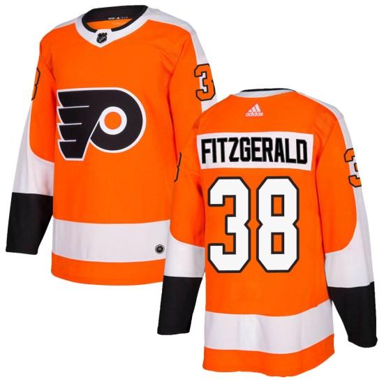 Ryan Fitzgerald Philadelphia Flyers Authentic Home Adidas Jersey - Orange
