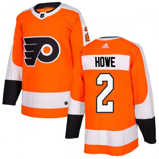 Mark Howe Philadelphia Flyers Authentic Home Adidas Jersey - Orange