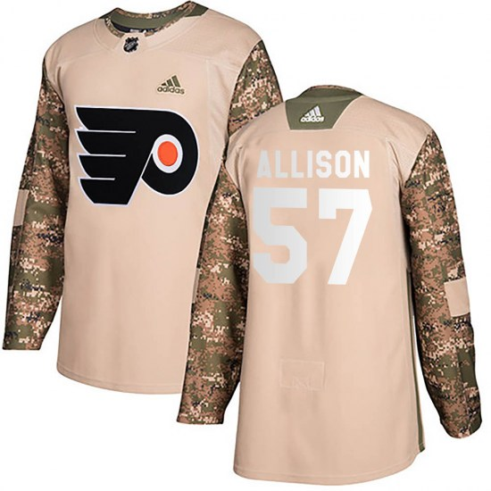 Wade Allison Philadelphia Flyers Youth Authentic Veterans Day Practice Adidas Jersey - Camo