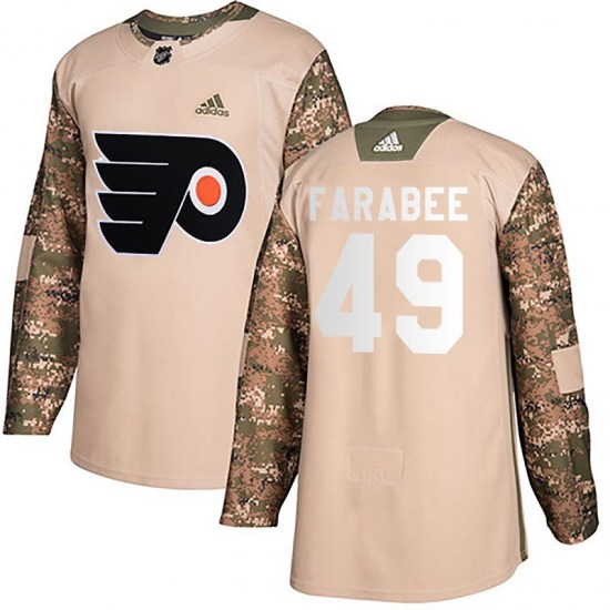 Joel Farabee Philadelphia Flyers Youth Authentic Veterans Day Practice Adidas Jersey - Camo