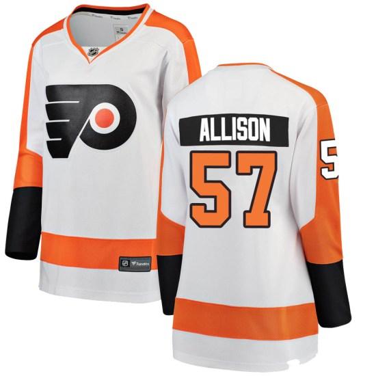 Wade Allison Philadelphia Flyers Women's Breakaway Away Fanatics Branded Jersey - White