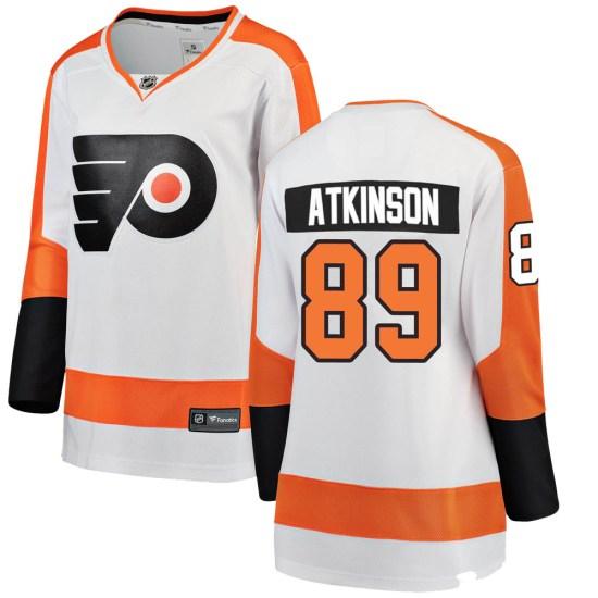 Cam Atkinson Philadelphia Flyers Women's Breakaway Away Fanatics Branded Jersey - White