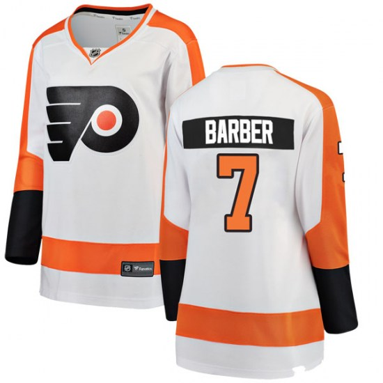 Bill Barber Philadelphia Flyers Women's Breakaway Away Fanatics Branded Jersey - White