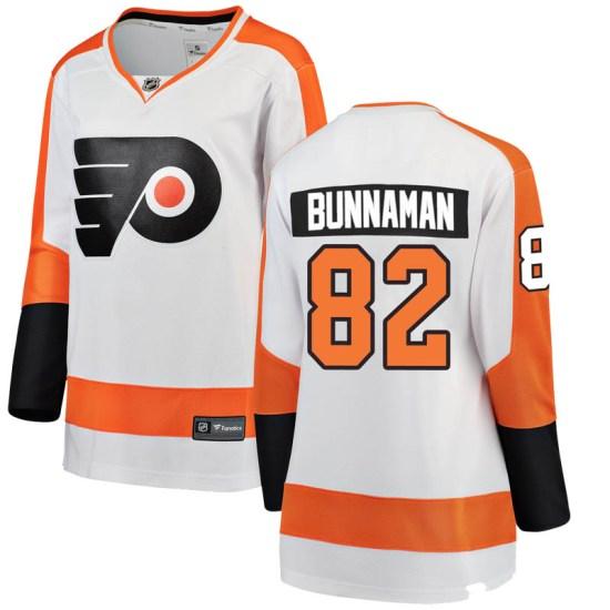 Connor Bunnaman Philadelphia Flyers Women's Breakaway Away Fanatics Branded Jersey - White