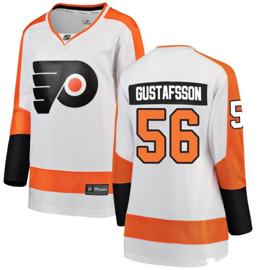 Erik Gustafsson Philadelphia Flyers Women's Breakaway Away Fanatics Branded Jersey - White