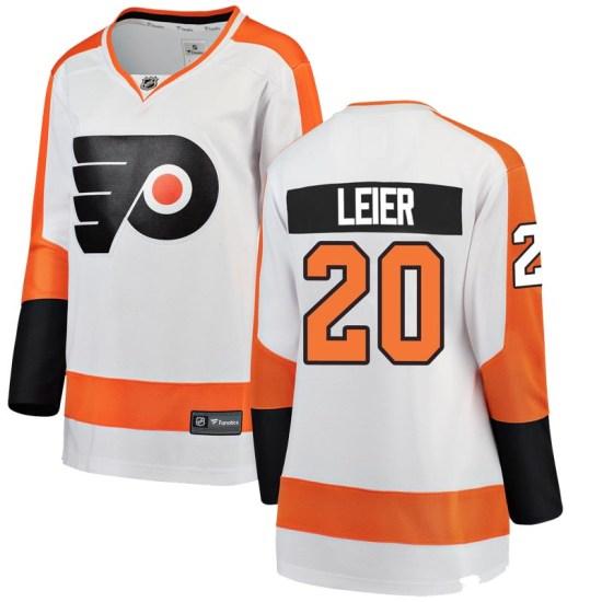 Taylor Leier Philadelphia Flyers Women's Breakaway Away Fanatics Branded Jersey - White