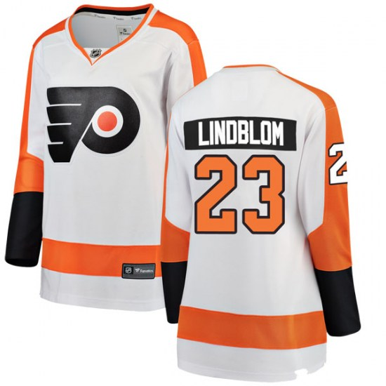 Oskar Lindblom Philadelphia Flyers Women's Breakaway Away Fanatics Branded Jersey - White