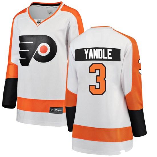 Keith Yandle Philadelphia Flyers Women's Breakaway Away Fanatics Branded Jersey - White
