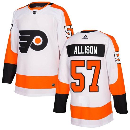 Wade Allison Philadelphia Flyers Authentic Adidas Jersey - White