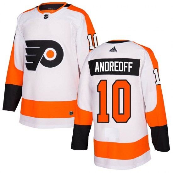 Andy Andreoff Philadelphia Flyers Authentic ized Adidas Jersey - White