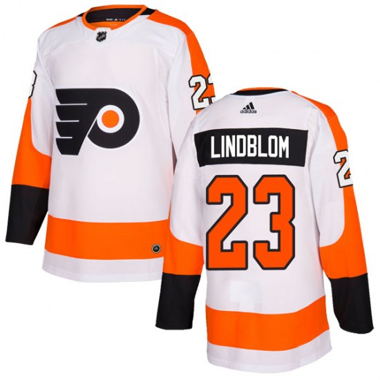Oskar Lindblom Philadelphia Flyers Authentic Adidas Jersey - White