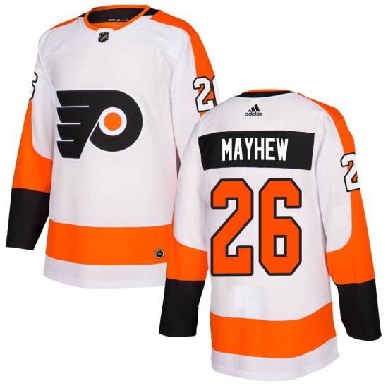 Gerald Mayhew Philadelphia Flyers Authentic Adidas Jersey - White