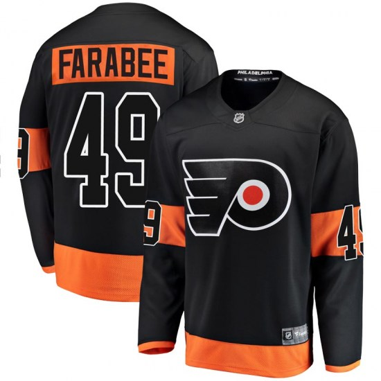Joel Farabee Philadelphia Flyers Youth Breakaway Alternate Fanatics Branded Jersey - Black