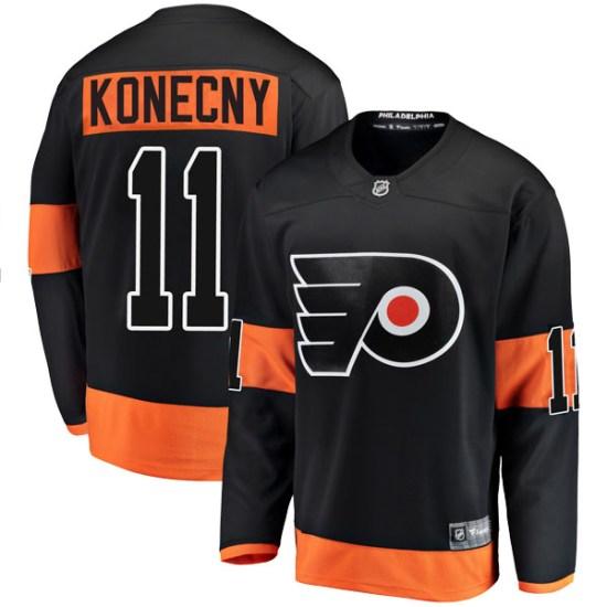 Travis Konecny Philadelphia Flyers Youth Breakaway Alternate Fanatics Branded Jersey - Black