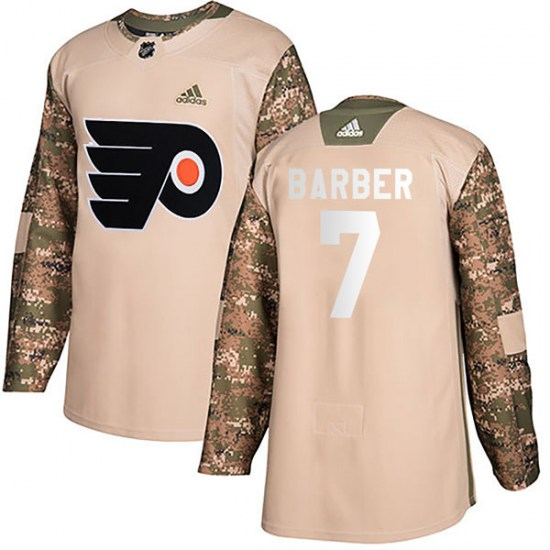 Bill Barber Philadelphia Flyers Authentic Veterans Day Practice Adidas Jersey - Camo