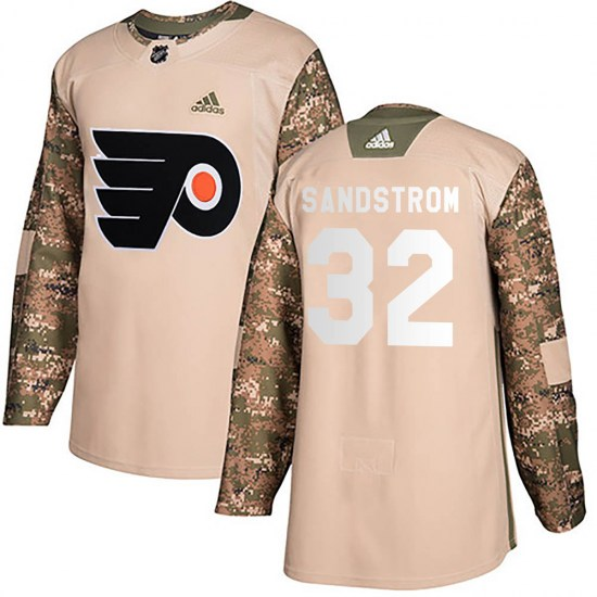 Felix Sandstrom Philadelphia Flyers Authentic Veterans Day Practice Adidas Jersey - Camo