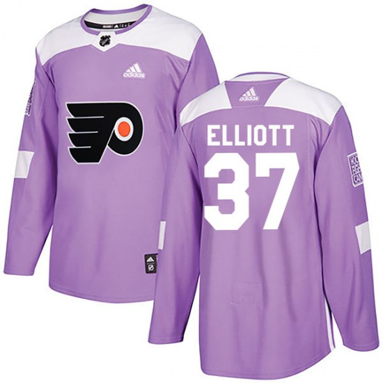 Brian Elliott Philadelphia Flyers Authentic Fights Cancer Practice Adidas Jersey - Purple