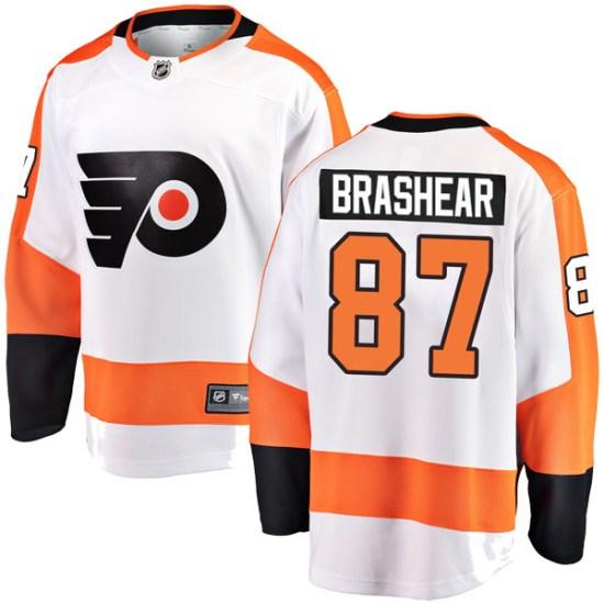Donald Brashear Philadelphia Flyers Youth Breakaway Away Fanatics Branded Jersey - White