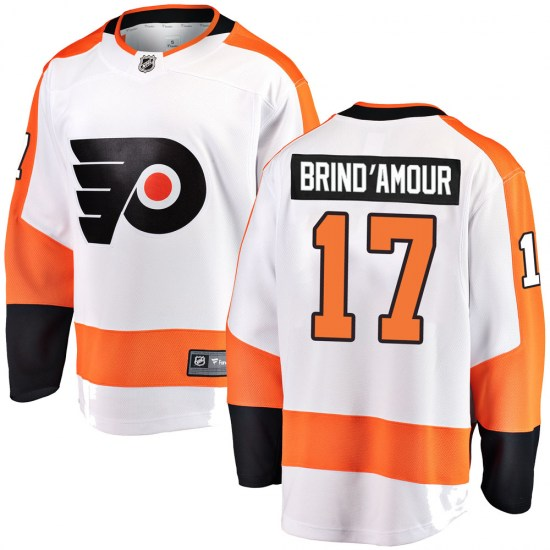 Rod Brind'amour Philadelphia Flyers Youth Breakaway Away Fanatics Branded Jersey - White