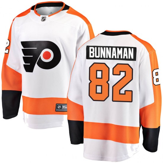 Connor Bunnaman Philadelphia Flyers Youth Breakaway Away Fanatics Branded Jersey - White