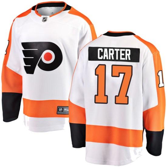 Jeff Carter Philadelphia Flyers Youth Breakaway Away Fanatics Branded Jersey - White