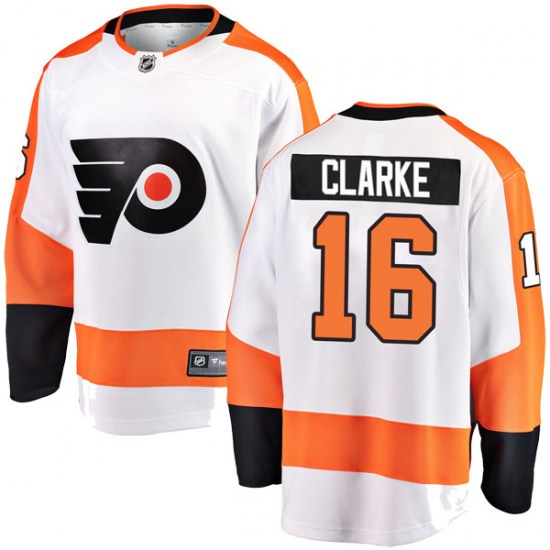 Bobby Clarke Philadelphia Flyers Youth Breakaway Away Fanatics Branded Jersey - White