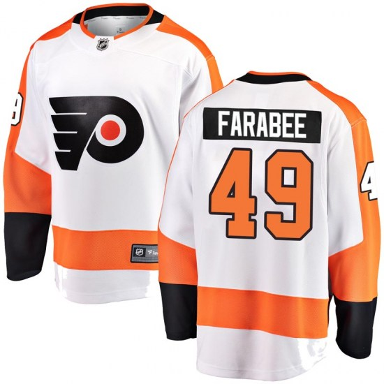 Joel Farabee Philadelphia Flyers Youth Breakaway Away Fanatics Branded Jersey - White