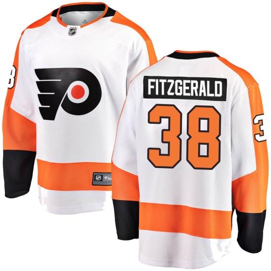 Ryan Fitzgerald Philadelphia Flyers Youth Breakaway Away Fanatics Branded Jersey - White