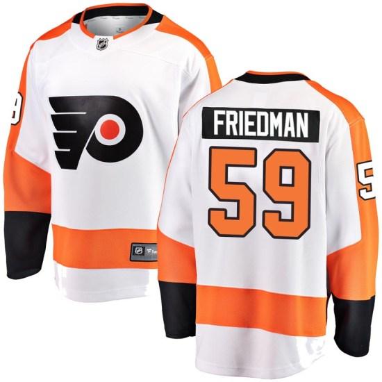 Mark Friedman Philadelphia Flyers Youth Breakaway Away Fanatics Branded Jersey - White