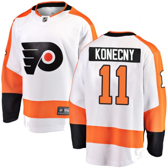 Travis Konecny Philadelphia Flyers Youth Breakaway Away Fanatics Branded Jersey - White