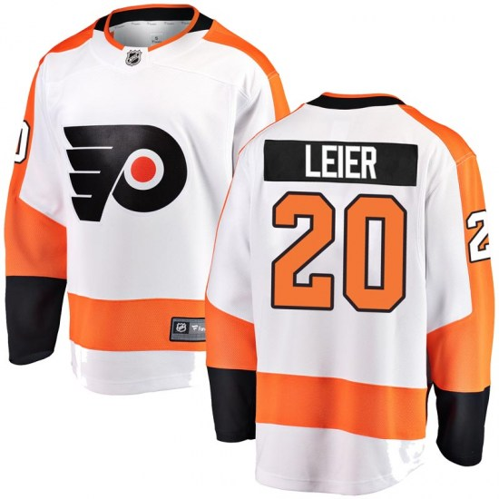 Taylor Leier Philadelphia Flyers Youth Breakaway Away Fanatics Branded Jersey - White