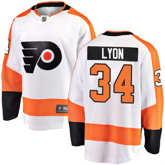Alex Lyon Philadelphia Flyers Youth Breakaway Away Fanatics Branded Jersey - White