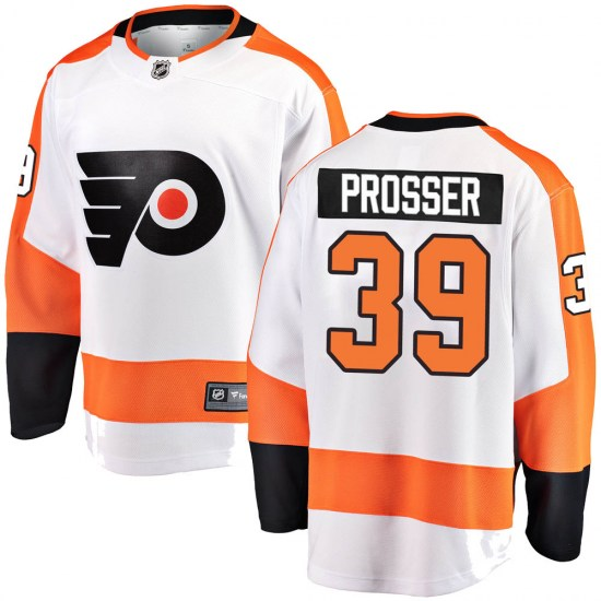 Nate Prosser Philadelphia Flyers Youth Breakaway Away Fanatics Branded Jersey - White