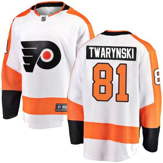 Carsen Twarynski Philadelphia Flyers Youth Breakaway Away Fanatics Branded Jersey - White
