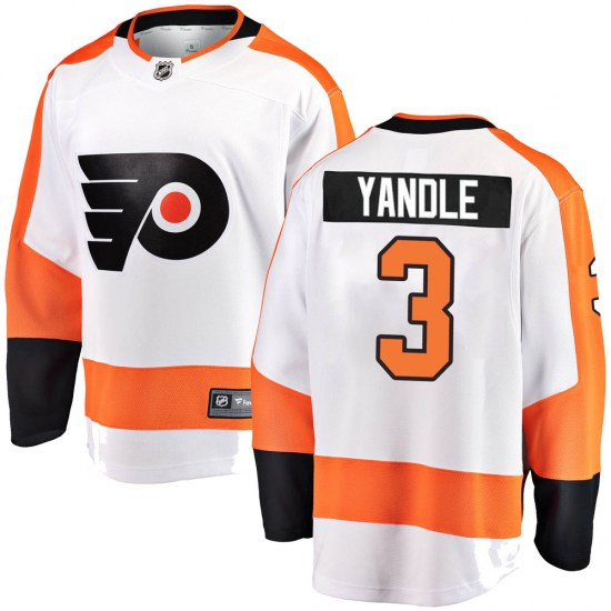 Keith Yandle Philadelphia Flyers Youth Breakaway Away Fanatics Branded Jersey - White
