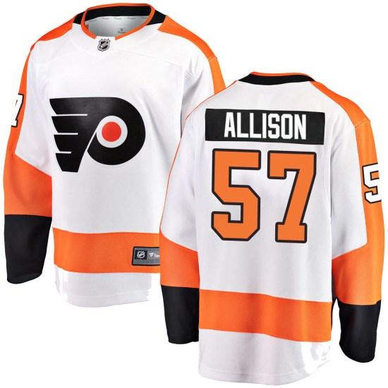 Wade Allison Philadelphia Flyers Breakaway Away Fanatics Branded Jersey - White