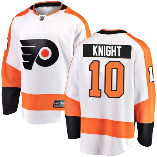 Corban Knight Philadelphia Flyers Breakaway Away Fanatics Branded Jersey - White