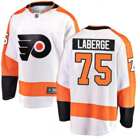 Pascal Laberge Philadelphia Flyers Breakaway Away Fanatics Branded Jersey - White