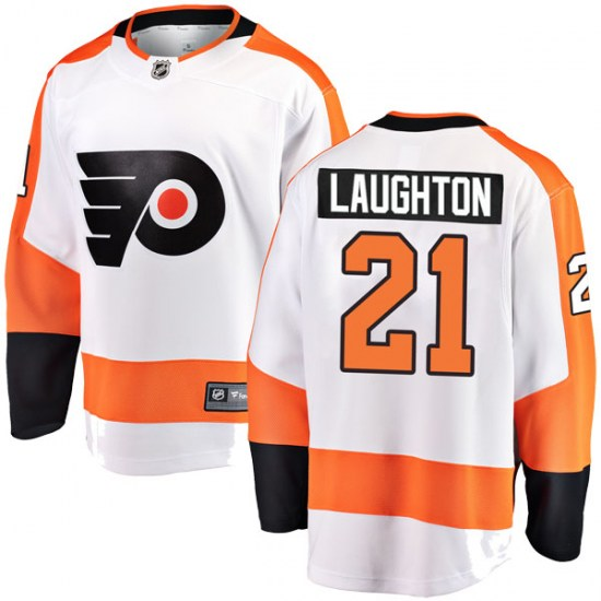 Scott Laughton Philadelphia Flyers Breakaway Away Fanatics Branded Jersey - White