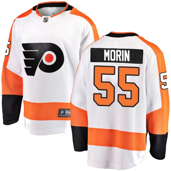 Samuel Morin Philadelphia Flyers Breakaway Away Fanatics Branded Jersey - White