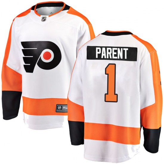 Bernie Parent Philadelphia Flyers Breakaway Away Fanatics Branded Jersey - White