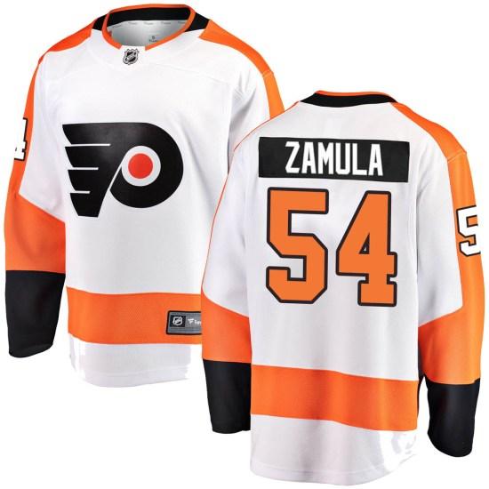 Egor Zamula Philadelphia Flyers Breakaway ized Away Fanatics Branded Jersey - White
