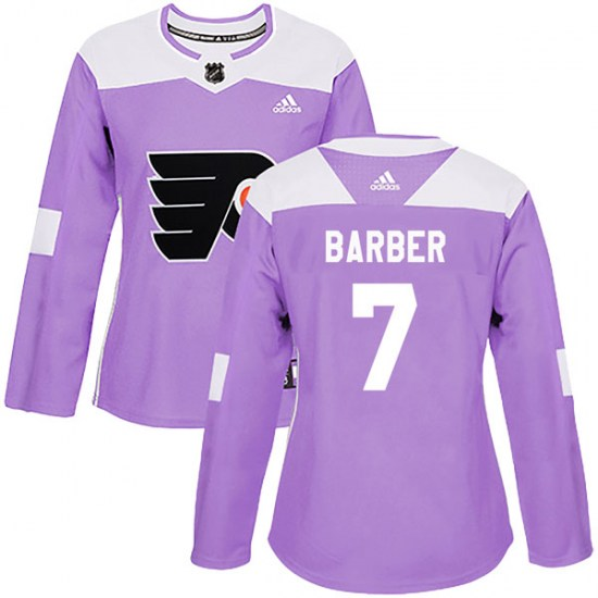 Bill Barber Philadelphia Flyers Women's Authentic Fights Cancer Practice Adidas Jersey - Purple