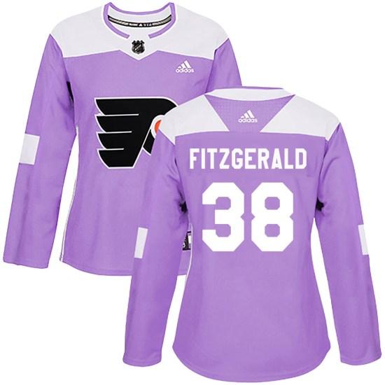 Ryan Fitzgerald Philadelphia Flyers Women's Authentic Fights Cancer Practice Adidas Jersey - Purple