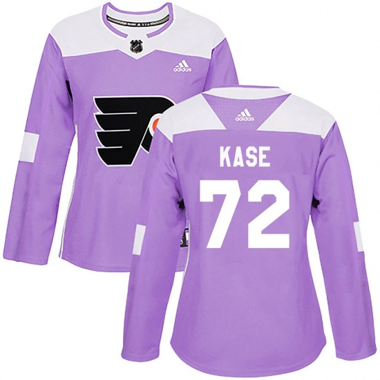 David Kase Philadelphia Flyers Women's Authentic Fights Cancer Practice Adidas Jersey - Purple