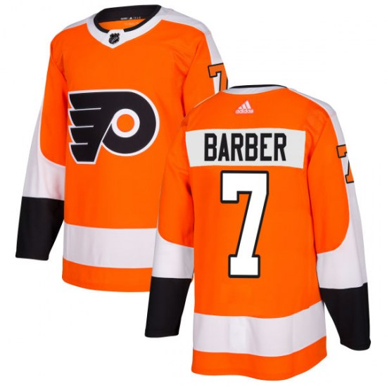 Bill Barber Philadelphia Flyers Authentic Adidas Jersey - Orange